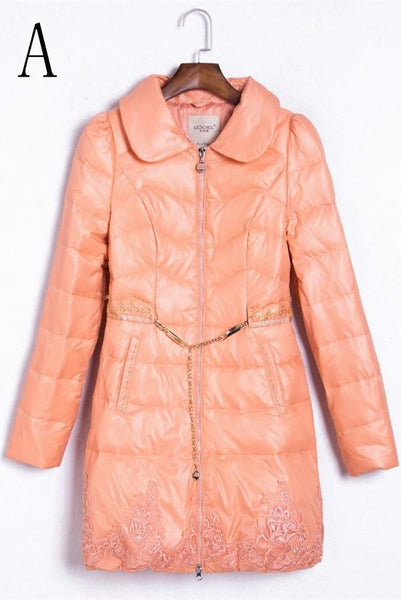 New Design Free Shipping Long Coat Down Duck Women's Down Jackets  D12