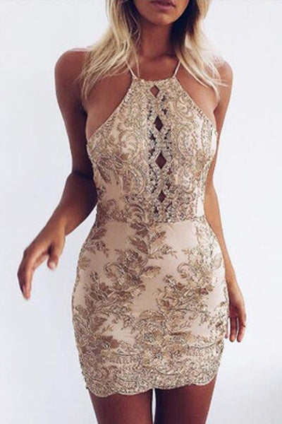Backless Homecoming Dresses,Sheath Prom Dresses,Sequins Party Dresses,Sexy Cocktail Dresses,Mini Prom Dresses,Short Homecoming Dresses