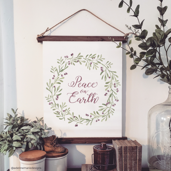 Canvas Hanging Print - Peace On Earth [HOLIDAY]