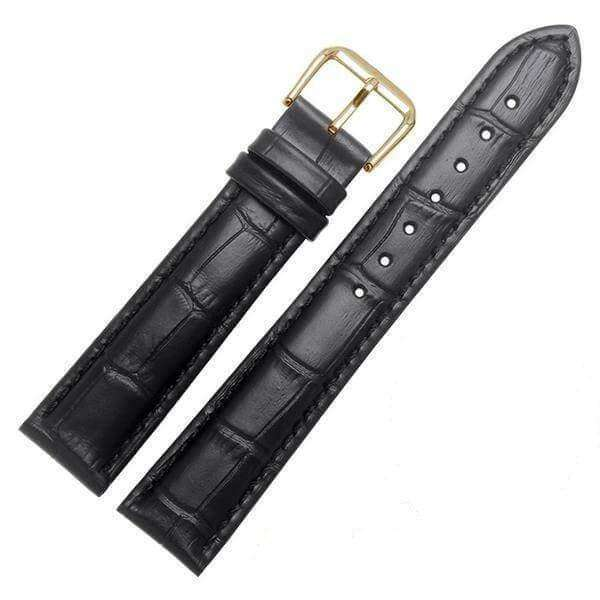 18mm 19mm 20mm 21mm 22mm 23mm 24mm Yellow / Orange / Red / Pink / Purple / Green / Brown / Black Leather Watch Strap With Quick Release Pin [11 Variations]
