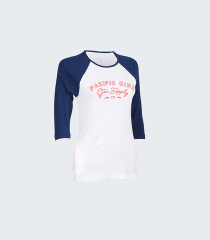 PRGS Bolts Baseball Tee | White/Navy
