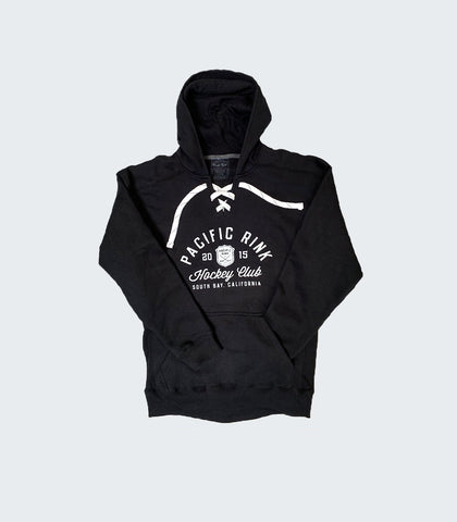 PRGS Hockey Club Lace Up Hoodie | Black