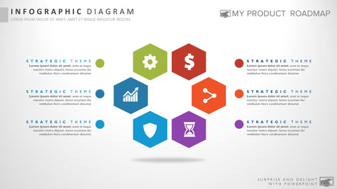 Six Stage Infographic Powerpoint Strategy Infographic Presentation Template