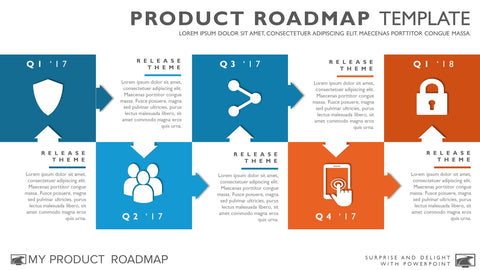 Free Agile Timeline Roadmapping Presentation Diagram