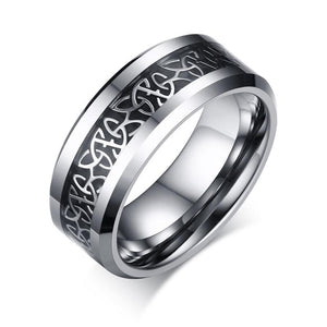 32769323657 - 0.24 Or 0.31 Inch Wide Celtic Knot Tungsten Carbide Ring
