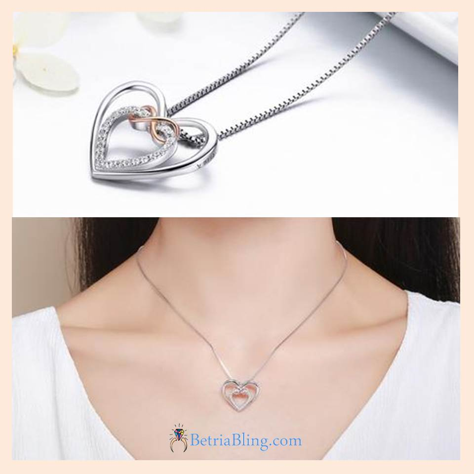 32835444081 - 925 Sterling Silver Infinity Heart Necklace
