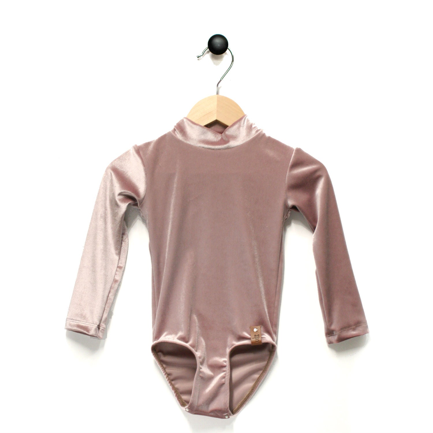 Alyssa Leotard - Textured Velvet Pink