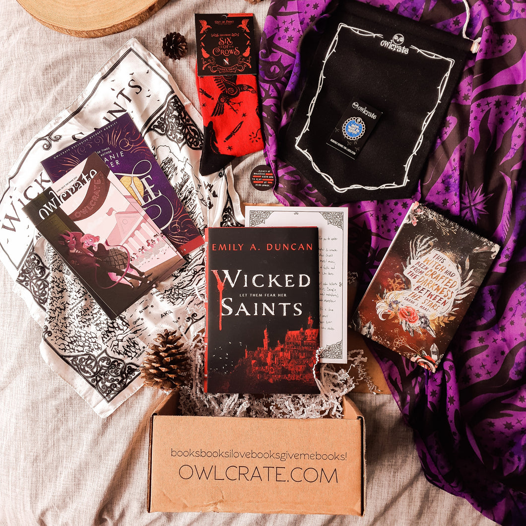 OwlCrate April 2019 'THE DARK SIDE' Box