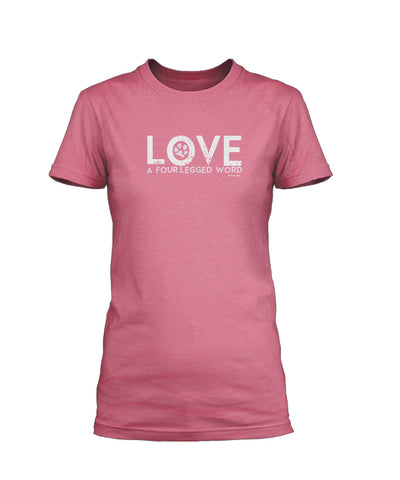 Love A Four Legged Word Short Sleeve T-Shirt
