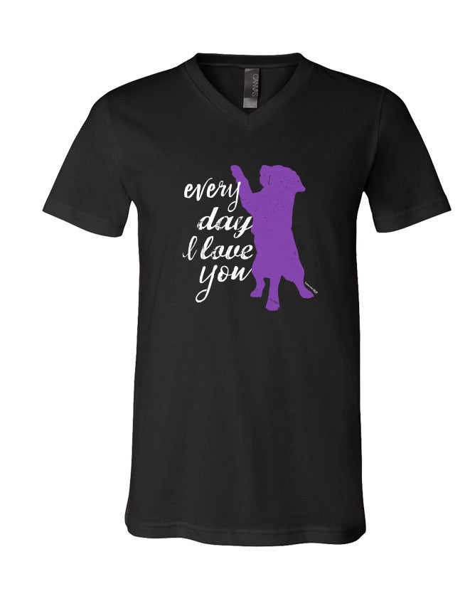 Every Day I Love You Short Sleeve T-Shirt V-Neck