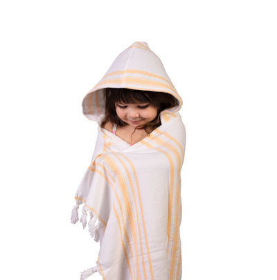 kids hooded towel - yellow