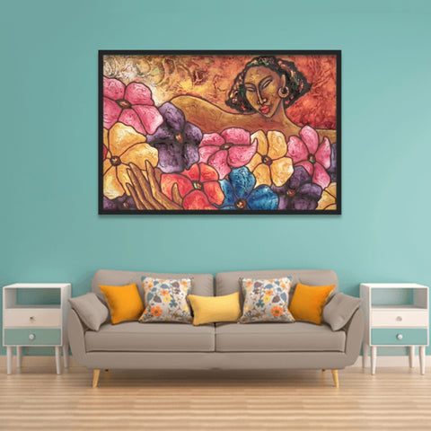 Flowers For Nina Lithograph Art Print