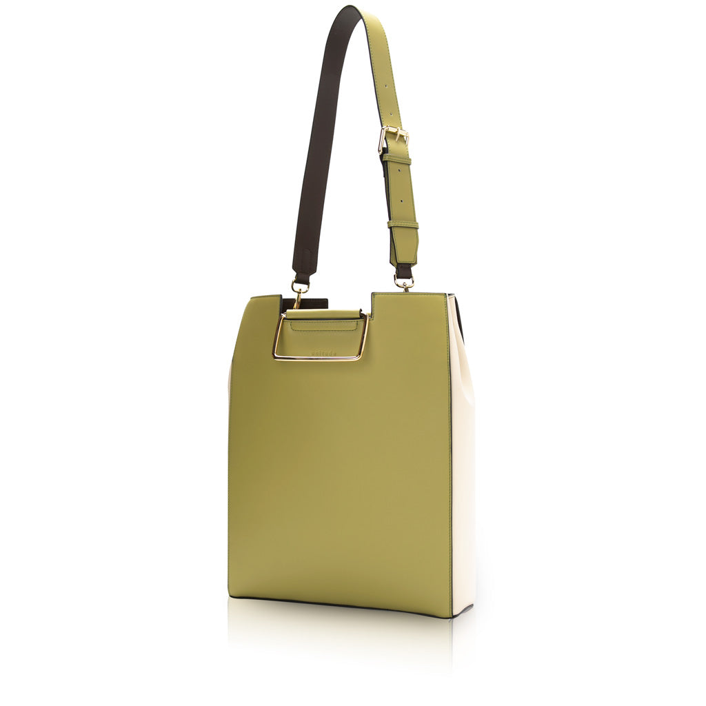 Morandi Rectangle Handle Tote - Olive
