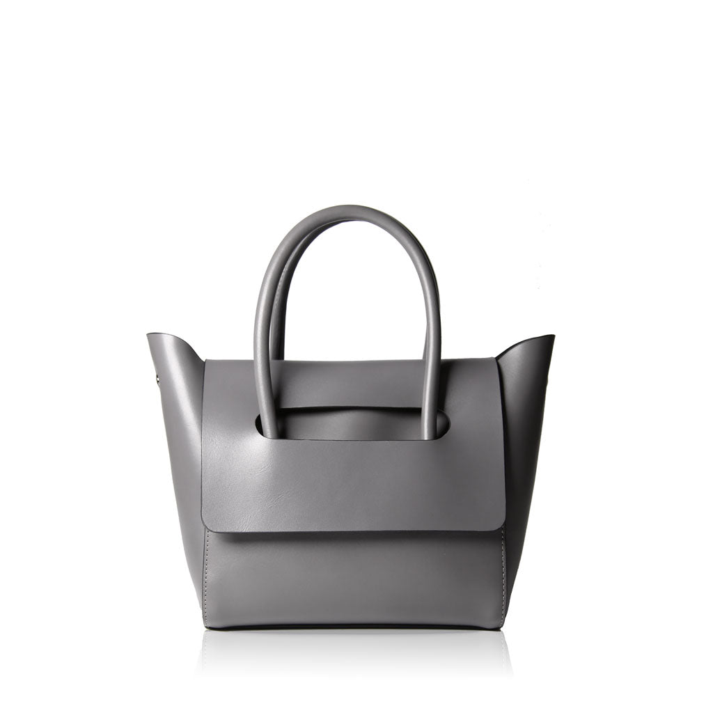 Mini Flap Closure Handbag - Grey