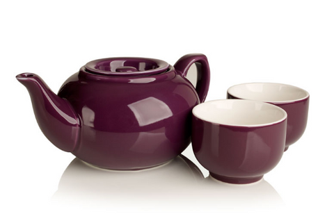 SimpliciTea Ceramic Teapot - Plum Purple