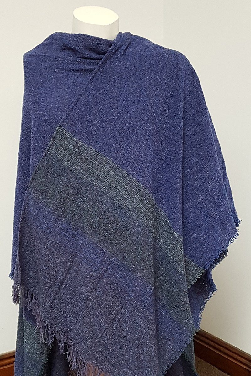 Wool Shawl - Midnight Blue - 1