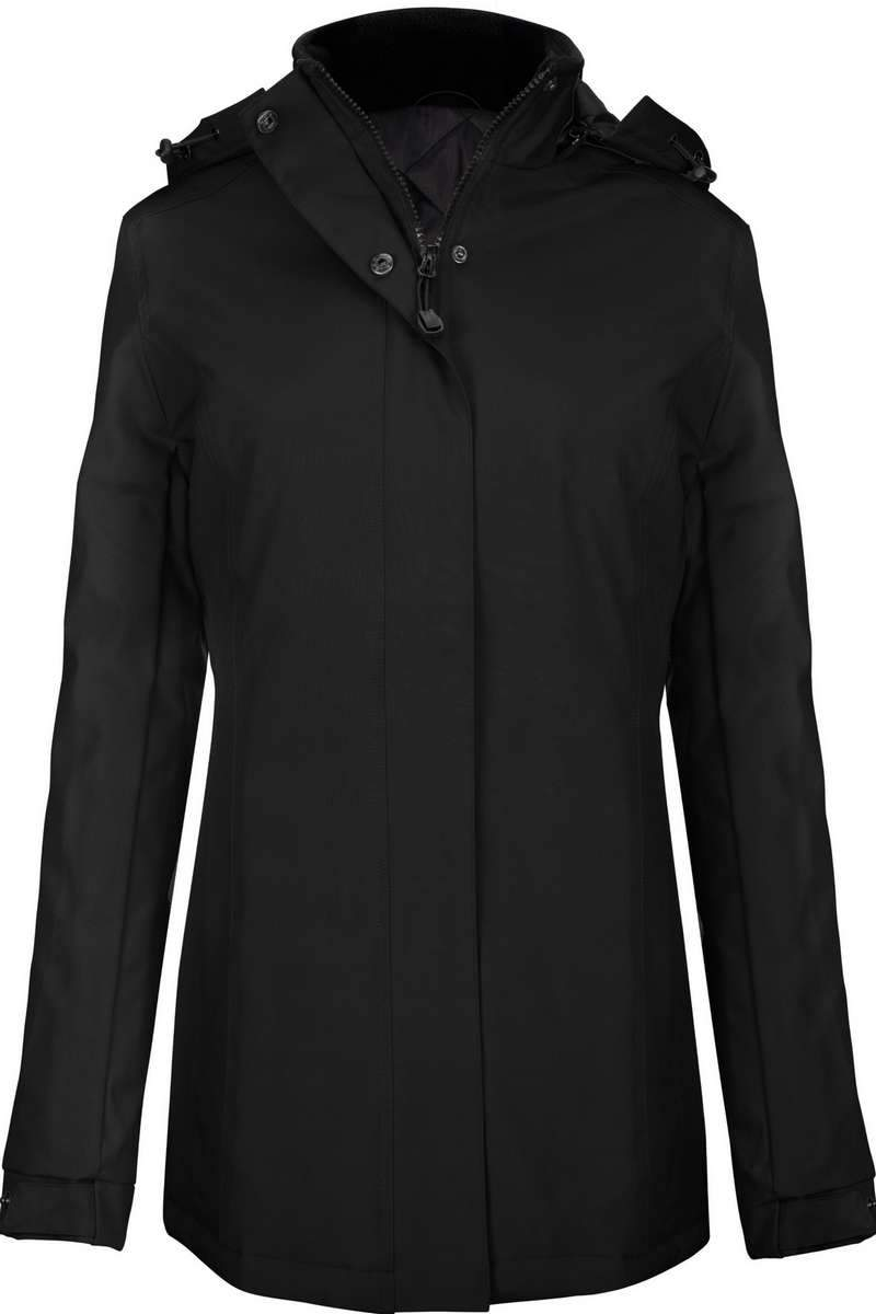 Carlow Women's Parka Jacket Black - Lee Valley Ireland - 1