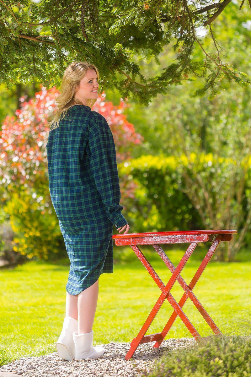 Nightshirt Lee Valley Flannel Ladies - LV6 Green Tartan- Blackwatch - Lee Valley Ireland - 2