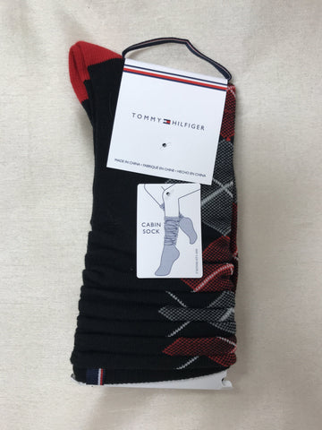 Tommy Hilfiger Socks Argyle Black MTD614-00