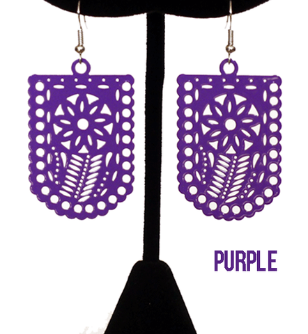 "Papel Picado ""Flor"" Earrings"