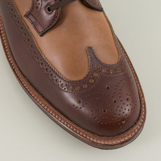 Alden Two Tone Long Wing Blucher Brown Natural Chromexcel Image #1