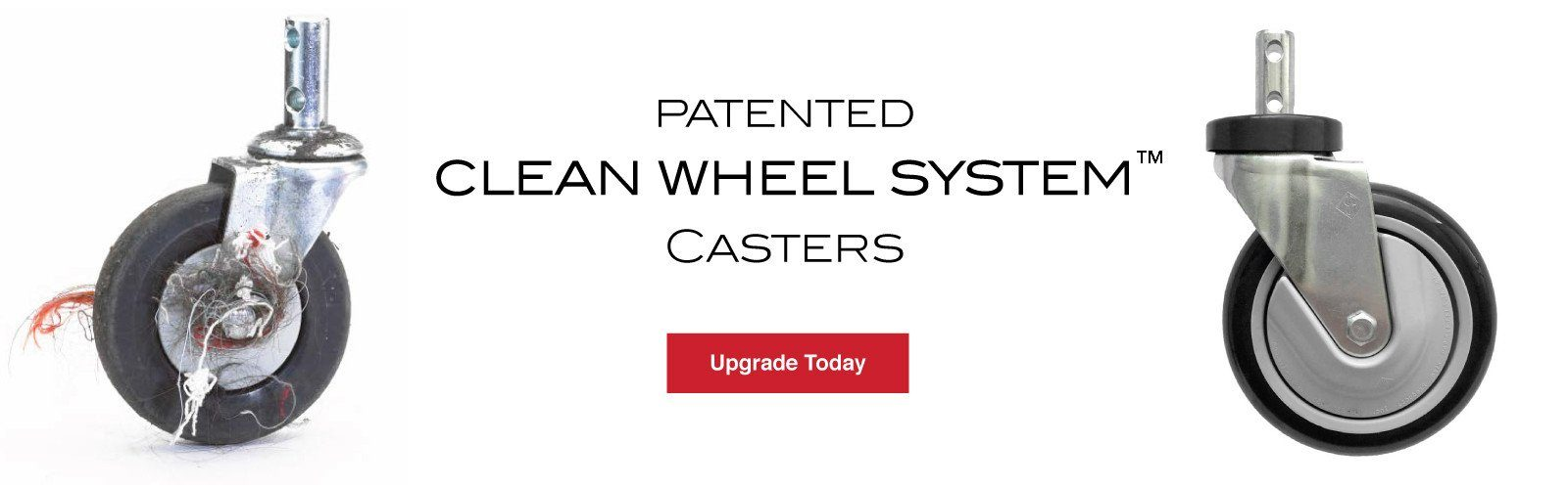 Patented Clean Wheel System Casters