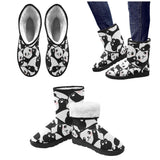 e-joyer Custom High Top Unisex Snow Boots (047) Cute Panda Custom High Top Unisex Snow Boots (Model 047)