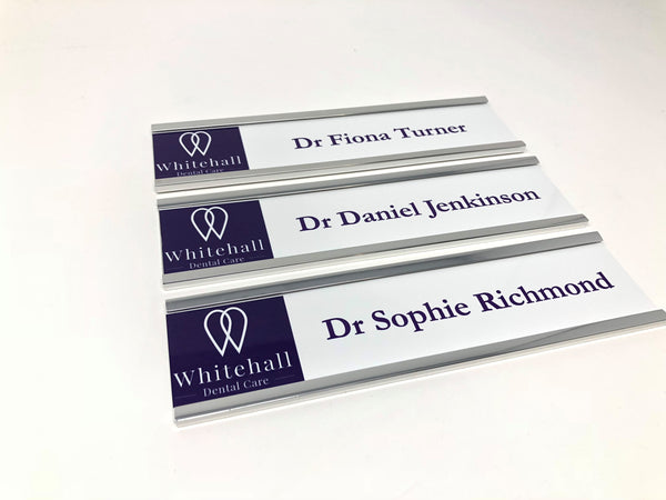 Whitehall Dental Care Changeable Door Signs