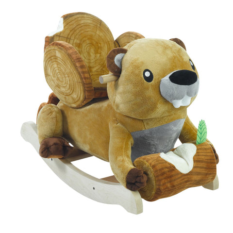 Baby Boy Natural Personalized Rocker  (#BGC327)