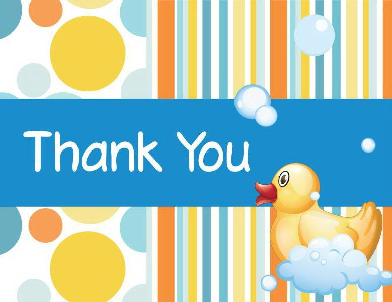 Bubble Bath Baby Shower Thank You Card