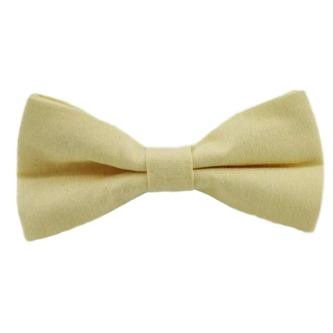 Soleil Cotton Boys Yellow Bow Tie