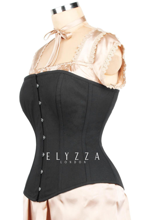 Edwardian Long Line Cotton Corset (ELC-401)