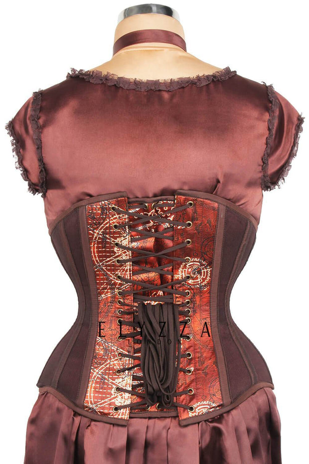 Steampunk Mesh with Printed Satin Corset (ELC-501)