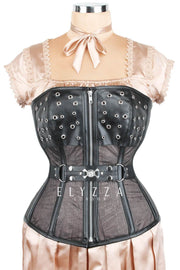 Waist Reducing Gothic Mesh Corset (ELC-401)