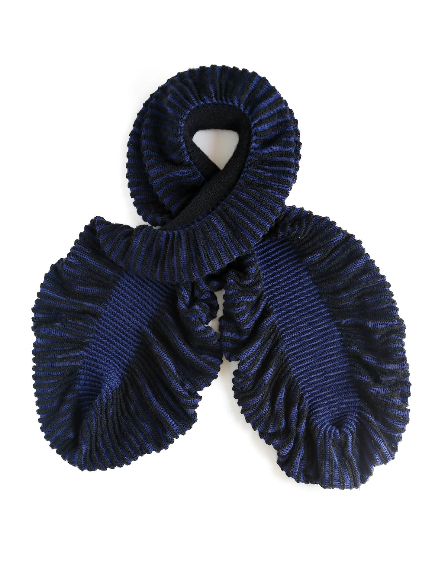 Cauliflower Scarf - Blue & Black
