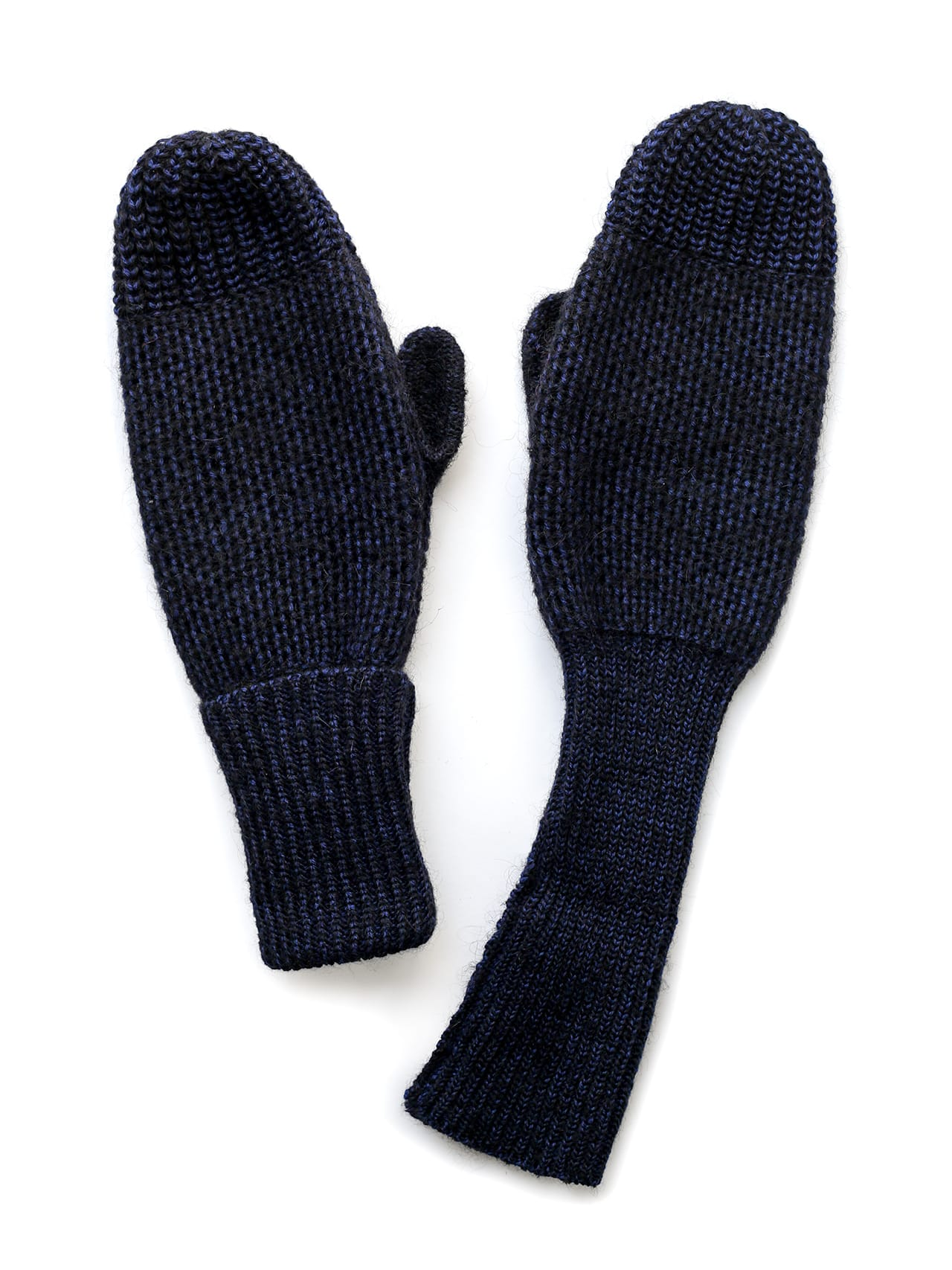 Paintbrush mittens - blue & black
