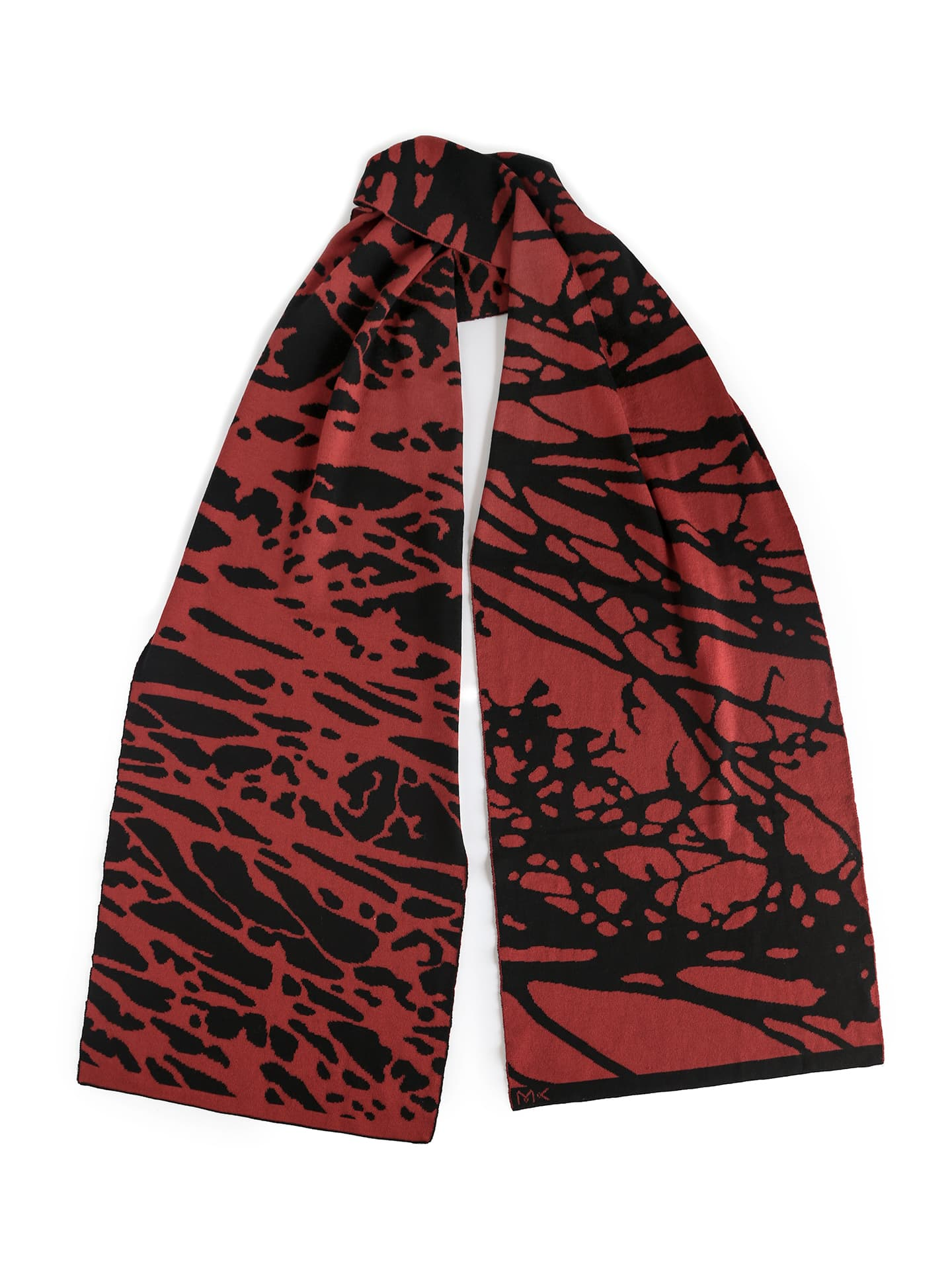Painted Tree Scarf - Copper & Black