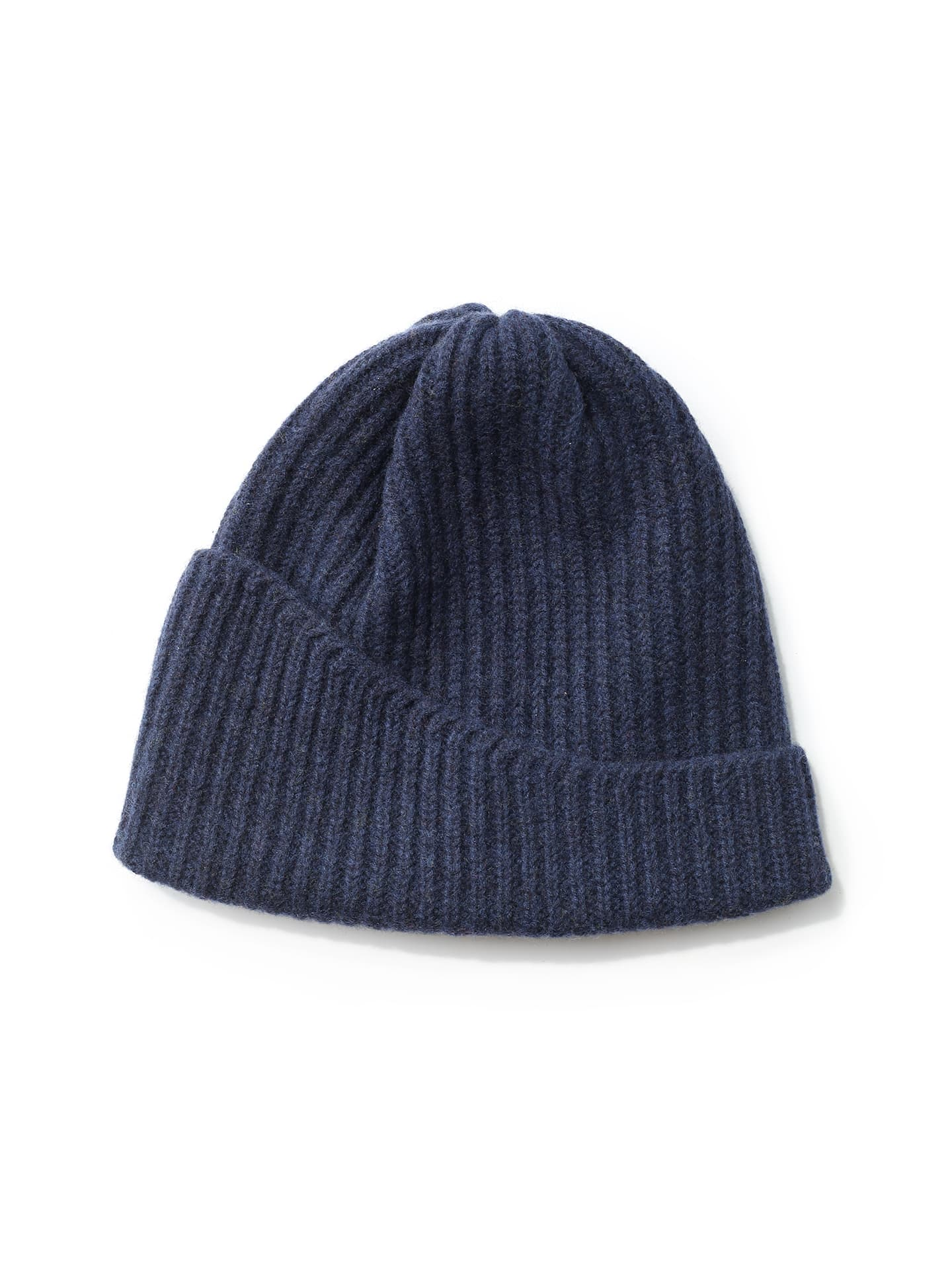 Reshaped Beanie Lambswool - Marine Blue
