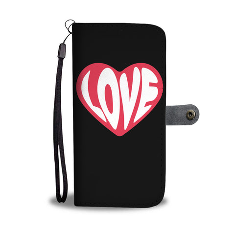 Love Designed Wallet Phone Case