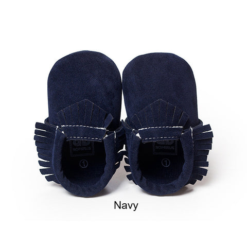Baby PU Suede Leather  Soft Moccs Shoes for Newborn Boy Girl