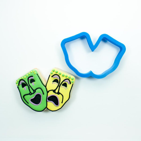 Frosted Cookie Cutter Theater Mask Cookie Cutter
