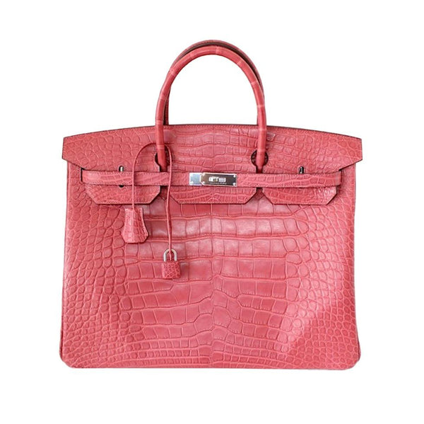 Hermes Birkin 40 Bag Bois De Rose Pink Matte Alligator Palladium