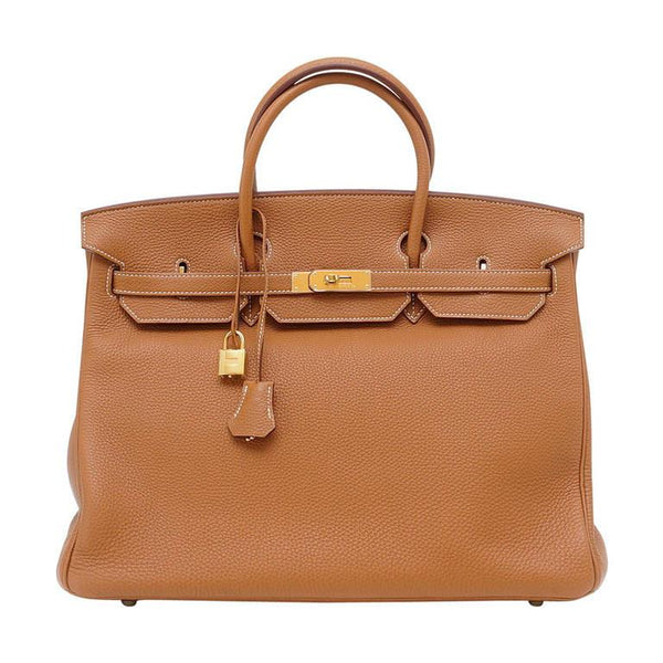 Hermes Birkin 40 Bag Coveted Gold Togo Coveted Gold Hardware