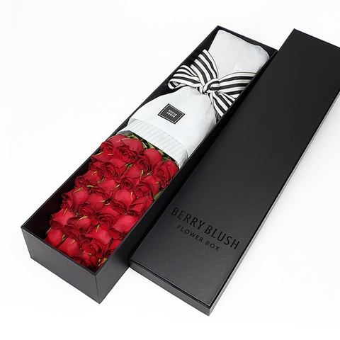 Premiere rose box with 12 or 24 stems of premium roses. Toronto florist flower delivery.