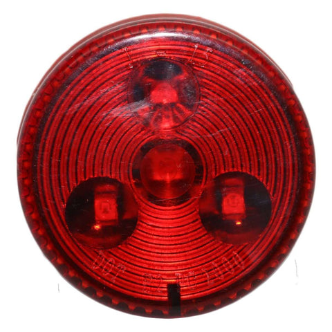 "2.5"" Round Red Clearance Side Marker Light 4 LED"