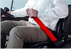 Red Retractable Forklift Replacement Seatbelt W/ Hardware Contractor