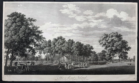 1772 John Boydell Antique Print of Moat Island Eight Views of Windsor Great Park