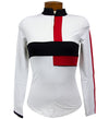 Catwalk Mock Long Sleeve Top - White/Red