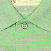 Mens Short Sleeve 2 Color Sport Stripe - IRISH GREEN/GREY