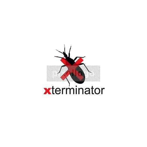 Exterminator Logo - Bug with red X on too | Logodive